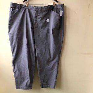 Old navy pixie mid rise tall gray capris 30 plus